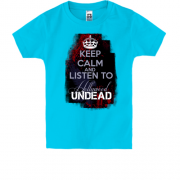 Детская футболка Keep calm and listen Hollywood Undead