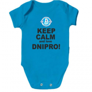 Детское боди Keep calm and love Dnipro