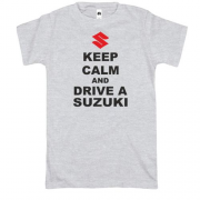 Футболка Keep calm and drive a SUZUKI