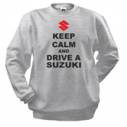 Свитшот Keep calm and drive a SUZUKI
