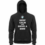 Толстовка Keep calm and drive a BMW