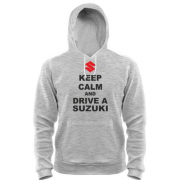 Толстовка Keep calm and drive a SUZUKI