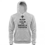 Толстовка Keep calm and drive a Toyota