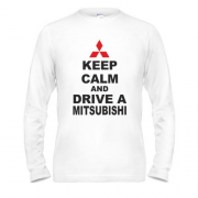 Лонгслив Keep calm and drive a Mitsubishi