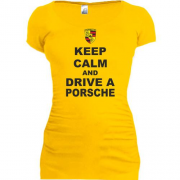 Туника Keep calm and drive a Porsche