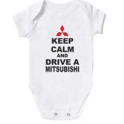 Детское боди Keep calm and drive a Mitsubishi