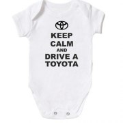 Детское боди Keep calm and drive a Toyota