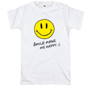 Футболка Smile Make me happy