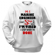 Свитшот I'm marine engineer