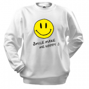 Свитшот Smile Make me happy