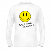 Лонгслив Smile Make me happy