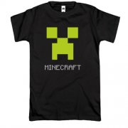 Футболка Minecraft logo grey