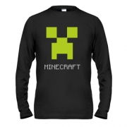 Лонгслив Minecraft logo grey