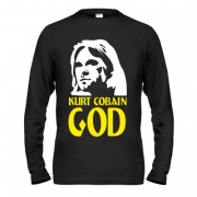 Лонгслив Kurt Cobain is god