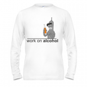 Лонгслив Work on alcohol