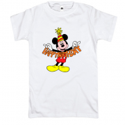 Футболка Mickey Happy birthday