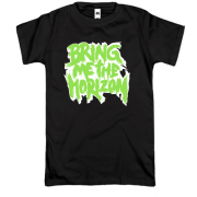Футболка Bring me the horizon logo green