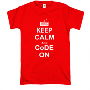 Футболка Keep calm and code on