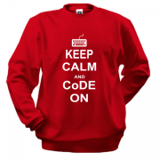 Світшот Keep calm and code on