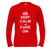 Лонгслив Keep calm and code on