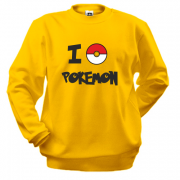 Свитшот I love Pokemon