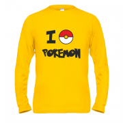 Лонгслив I love Pokemon