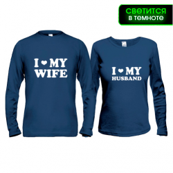 Парные лонгсливы I love my wife - I love my husband