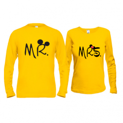Паpні лонгсліви Mr  - Mrs (Mickey style)