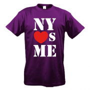 Футболка з написом New york loves me