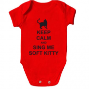 Детское боди Keep calm and song me Soft Kitty