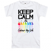 Футболка Keep calm and colour  your life (2)