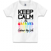 Детская футболка Keep calm and colour  your life (2)