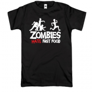 Футболка Zombies hate fast food