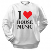 Свитшот I love house music