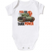Детское боди WOT - Feel the tank power