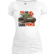 Подовжена футболка WOT - Feel the tank power