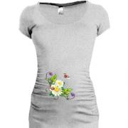 Жіночі подовжені футболки для вагітних. Купити жіночу подовжену ... e9a89a4c87124